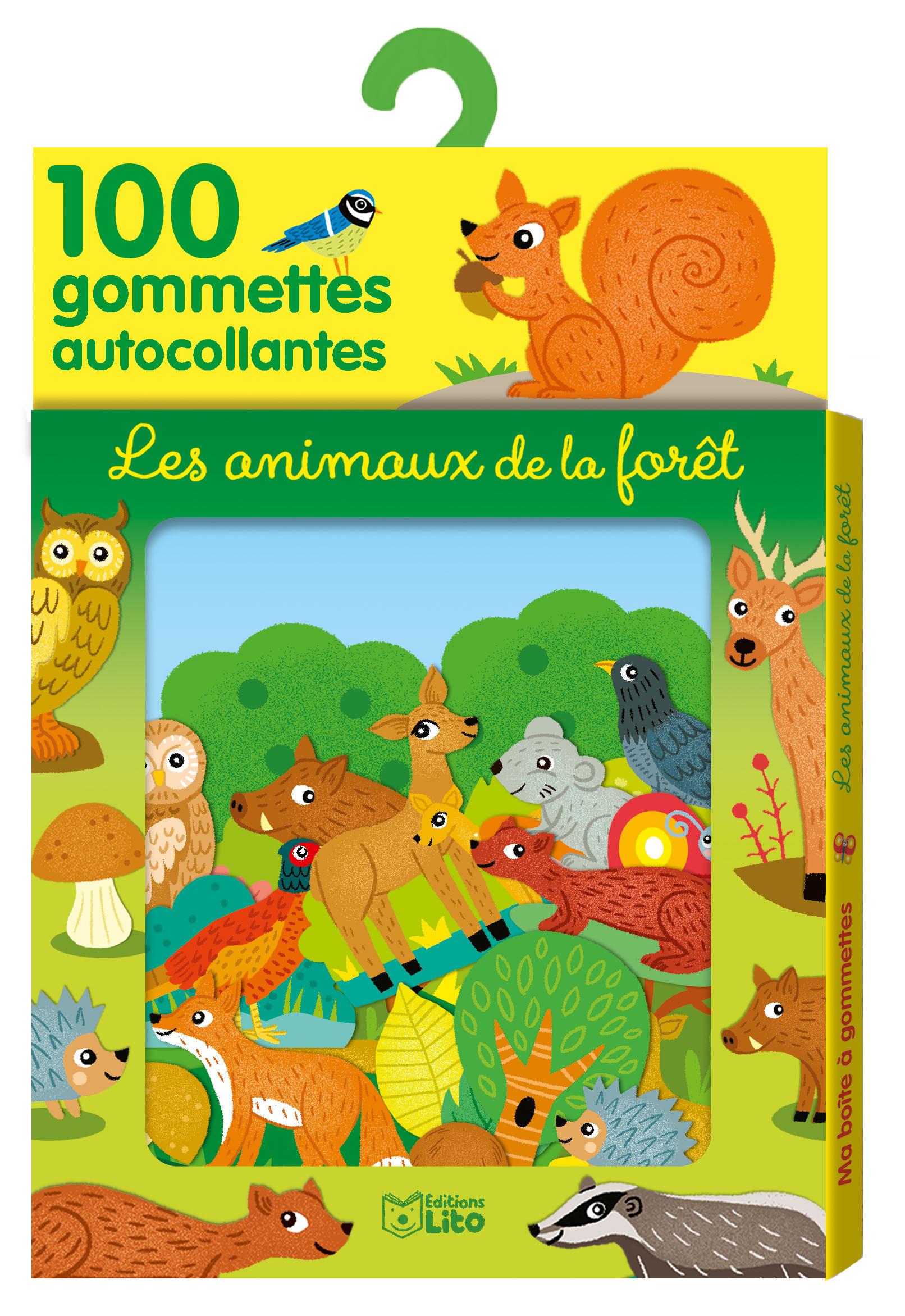 GOMMETTES ANIMAUX DE LA FORET