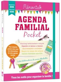 AGENDA FAMILIAL MEMONIAK POCKET 2015-2016