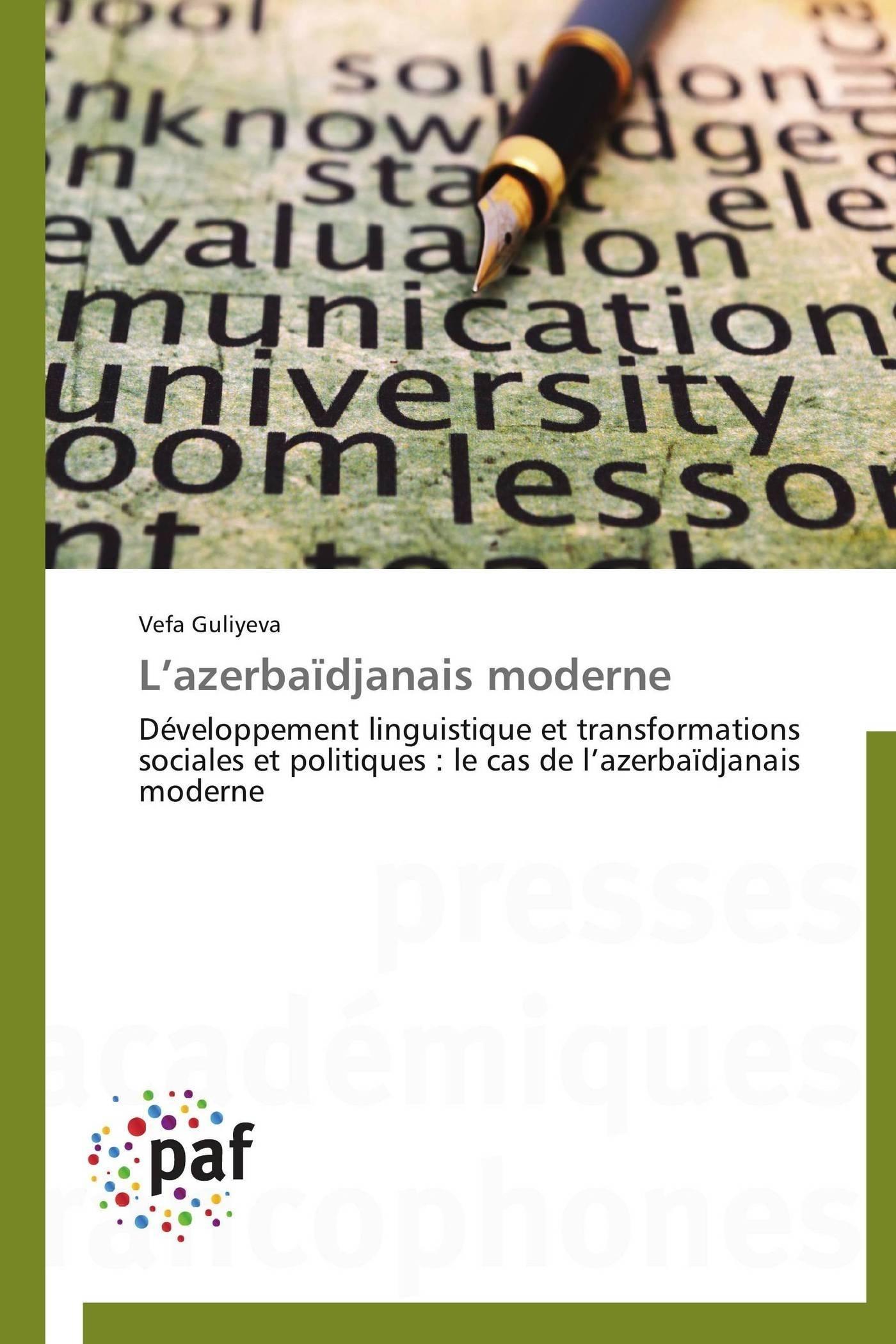 L AZERBAIDJANAIS MODERNE