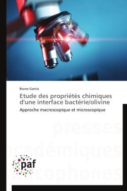 ETUDE DES PROPRIETES CHIMIQUES D'UNE INTERFACE BACTERIE/OLIVINE