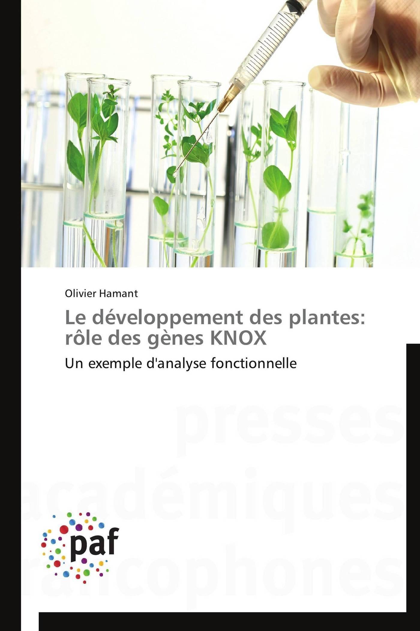 LE DEVELOPPEMENT DES PLANTES: ROLE DES GENES KNOX