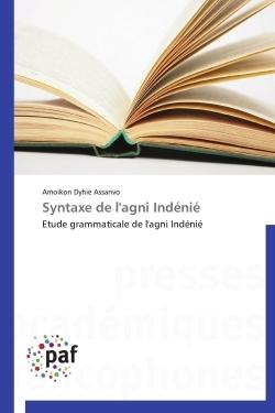 SYNTAXE DE L'AGNI INDENIE