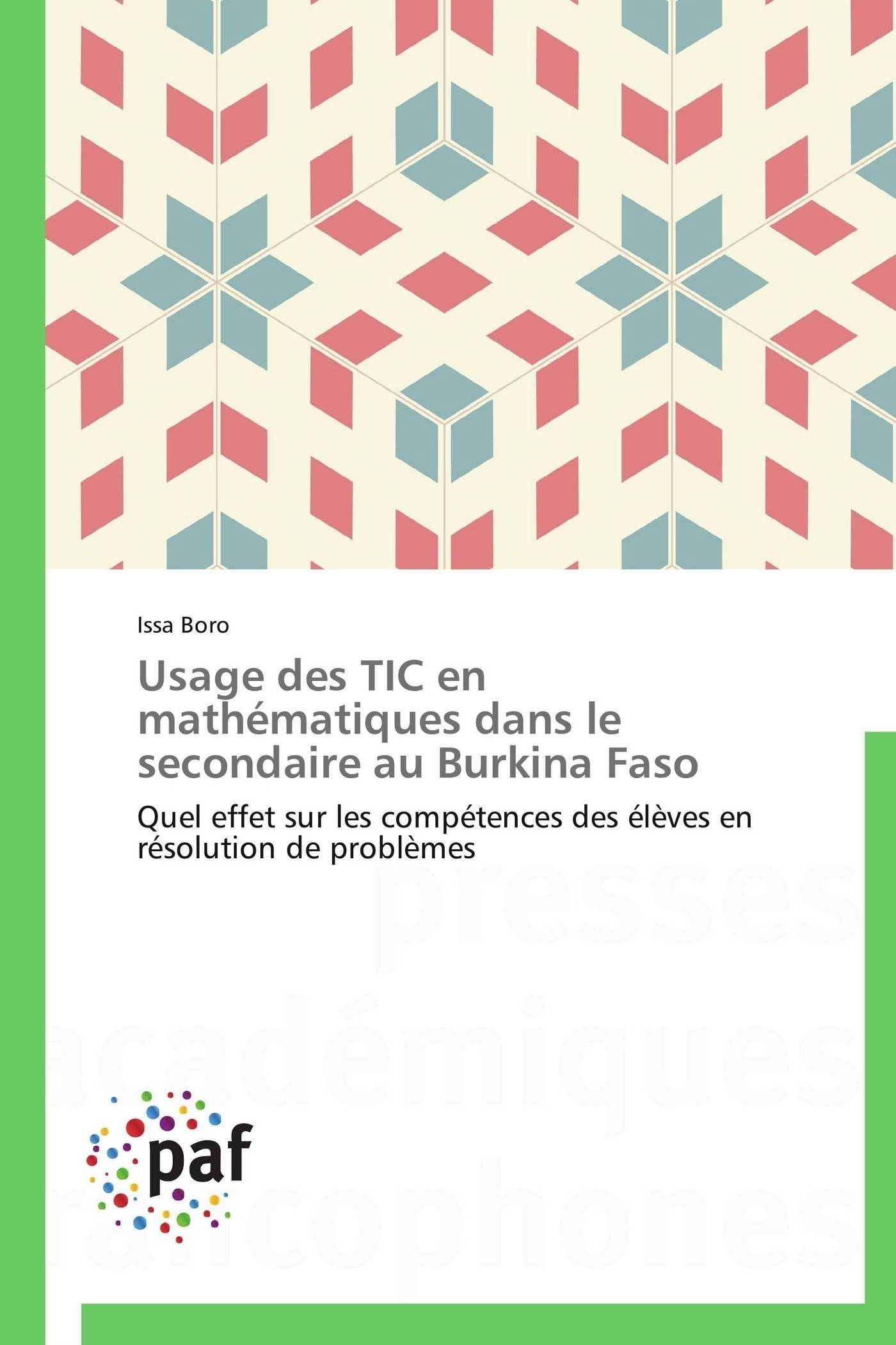 USAGE DES TIC EN MATHEMATIQUES DANS LE SECONDAIRE AU BURKINA FASO