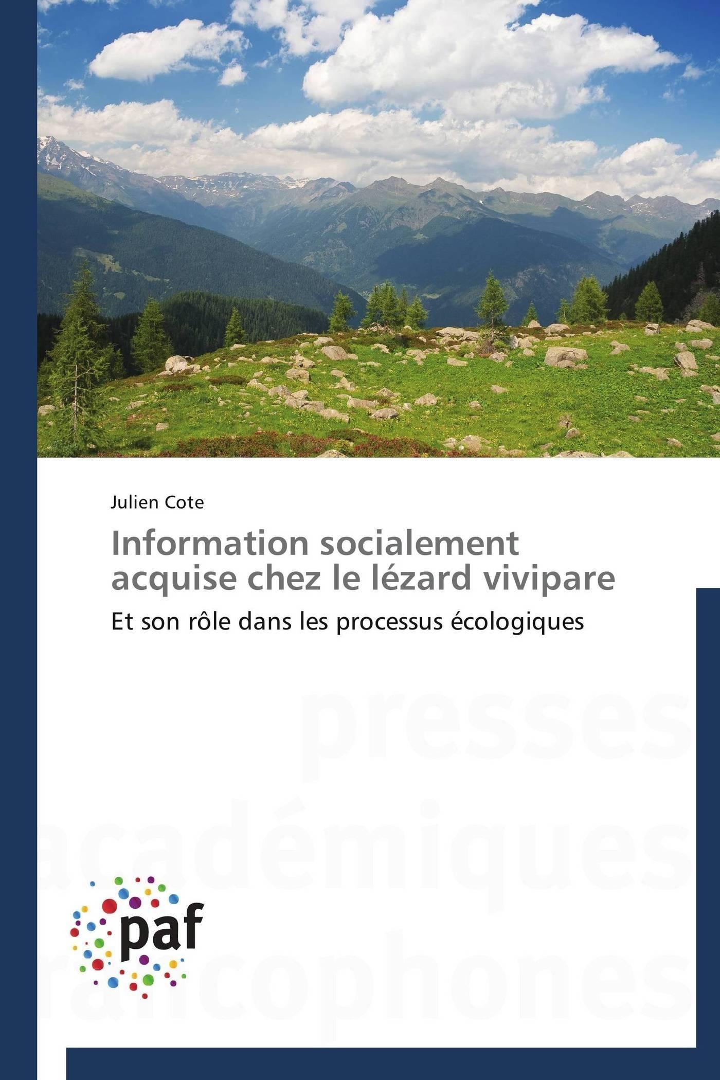 INFORMATION SOCIALEMENT ACQUISE CHEZ LE LEZARD VIVIPARE