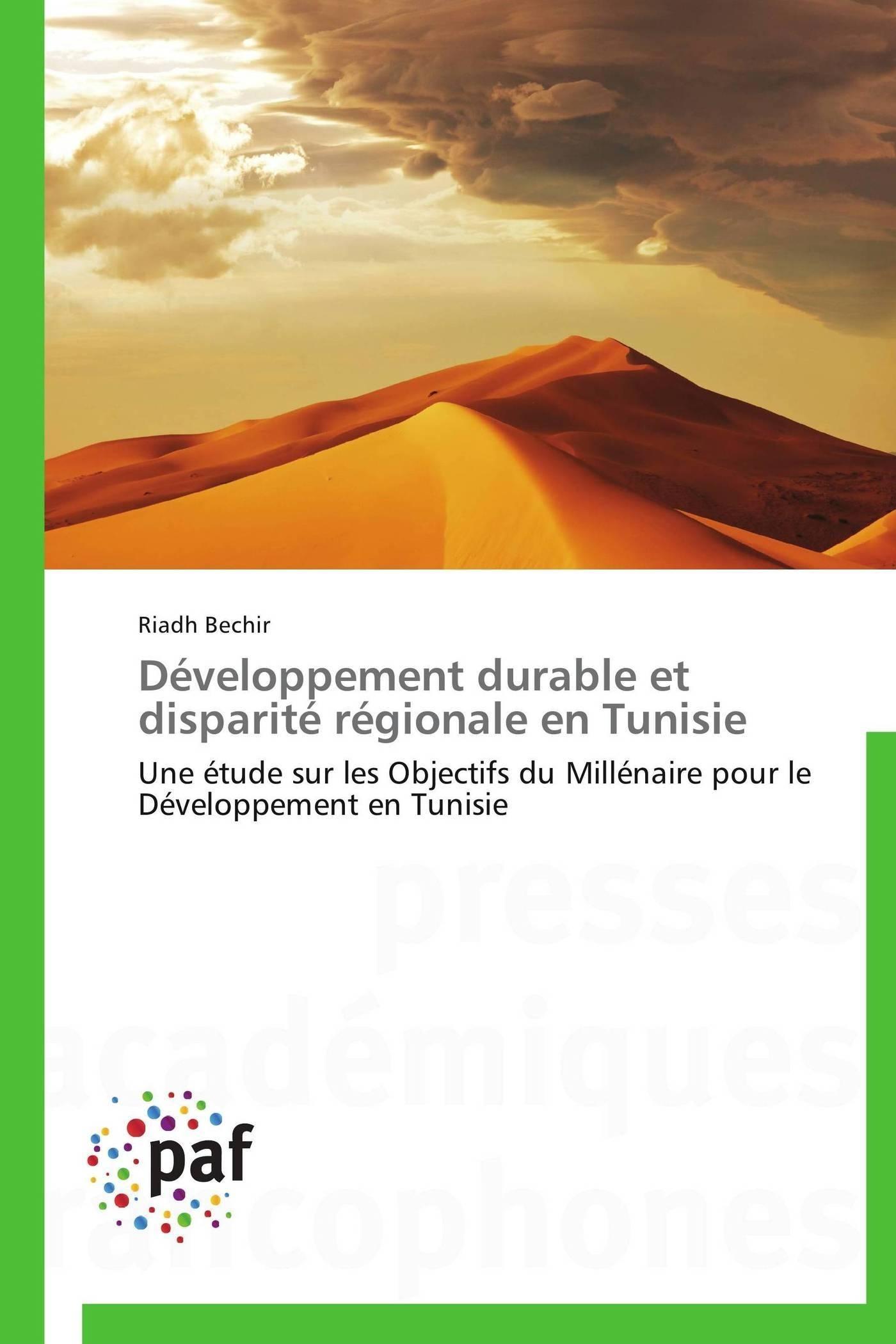 DEVELOPPEMENT DURABLE ET DISPARITE REGIONALE EN TUNISIE
