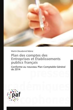 PLAN DES COMPTES DES ENTREPRISES ET ETABLISSEMENTS PUBLICS FRANCAIS