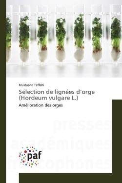 SELECTION DE LIGNEES D ORGE (HORDEUM VULGARE L.)