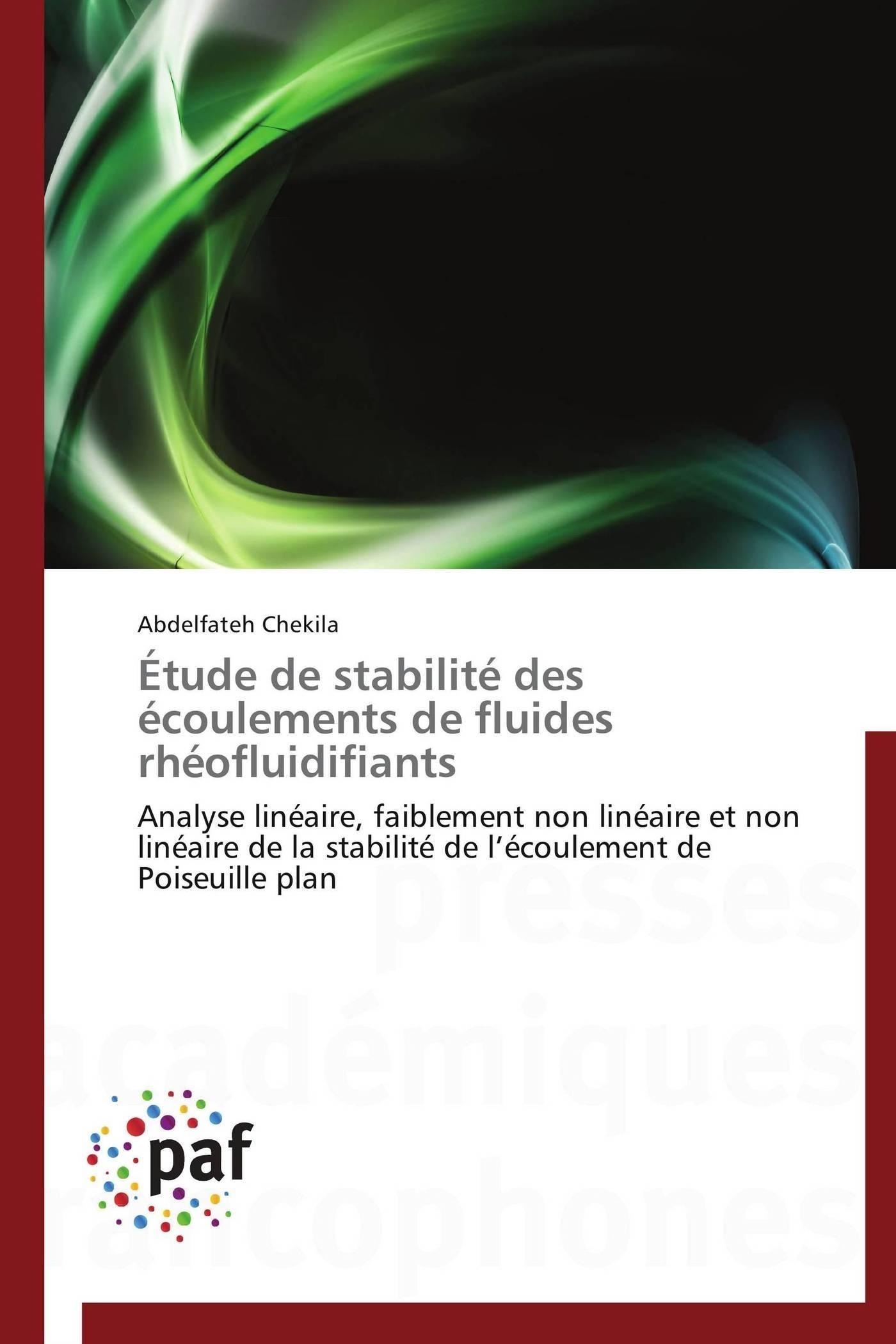 ETUDE DE STABILITE DES ECOULEMENTS DE FLUIDES RHEOFLUIDIFIANTS
