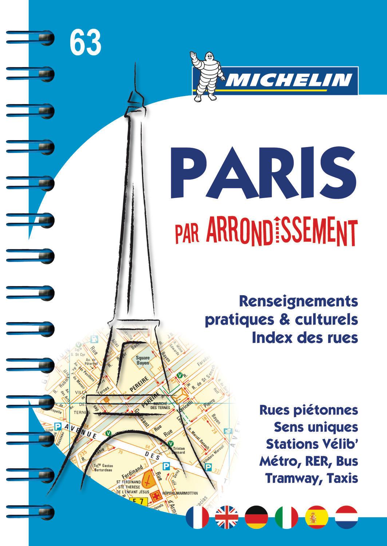 PARIS PAR ARRONDISSEMENT - PLAN ATLAS (SPIRALE)