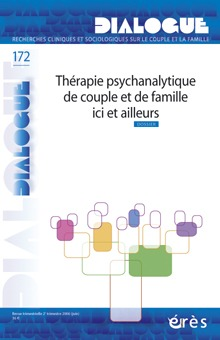 DIALOGUE 172 - THERAPIE DE COUPLE ET DE FAMILLE : EVOLUTIONS ET PERSPECTIVES