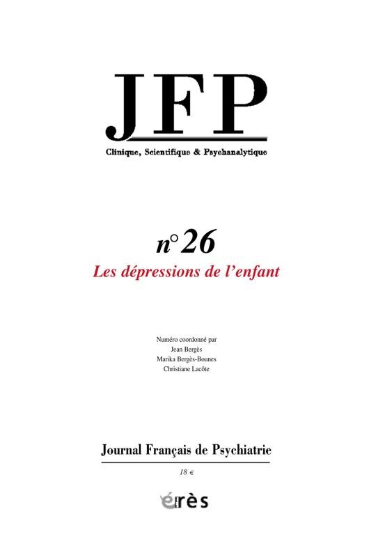 JFP 26 - LES DEPRESSIONS DE L'ENFANT