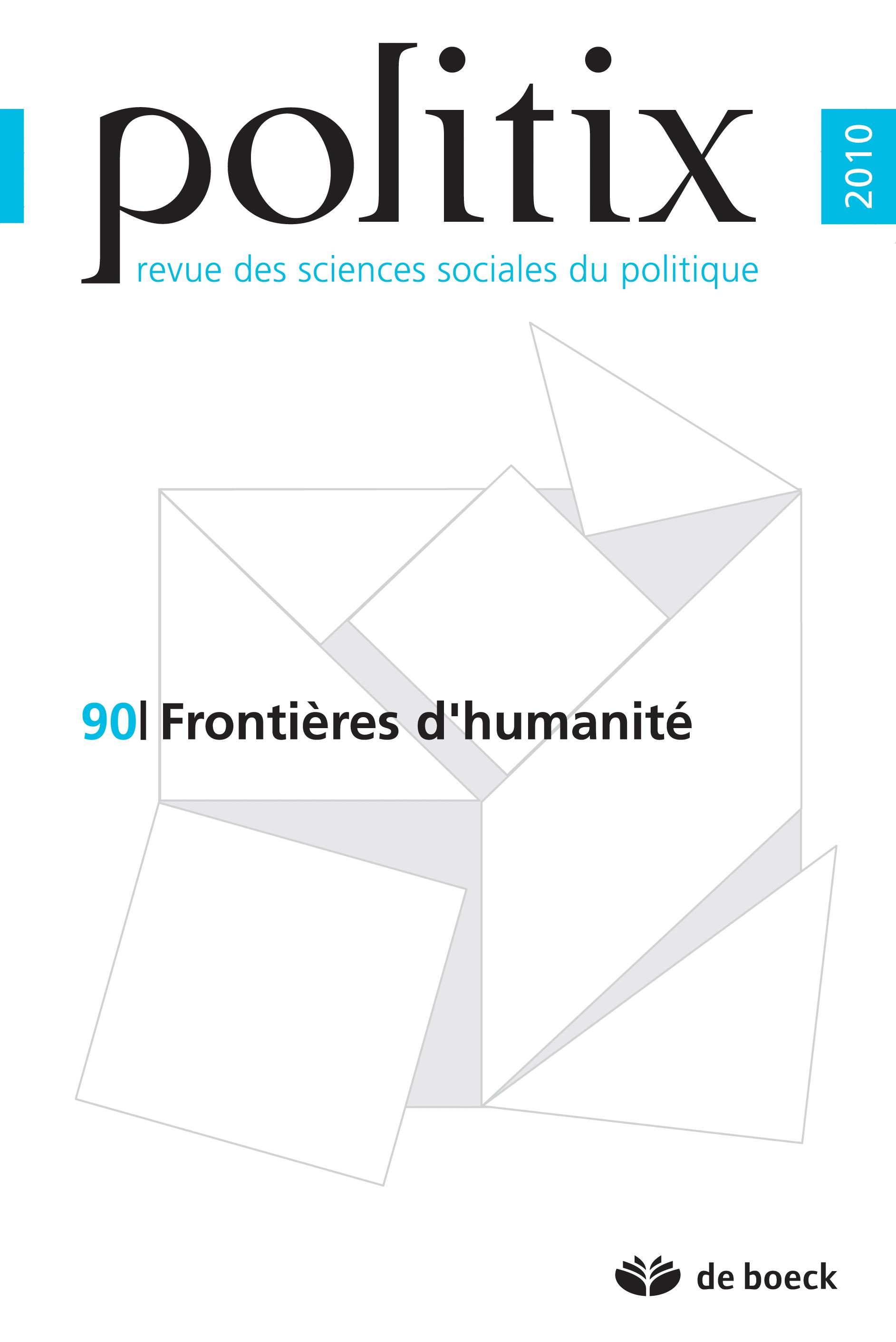 POLITIX 2010 VOLUME 23 N.90 FRONTIERES D'HUMANITE