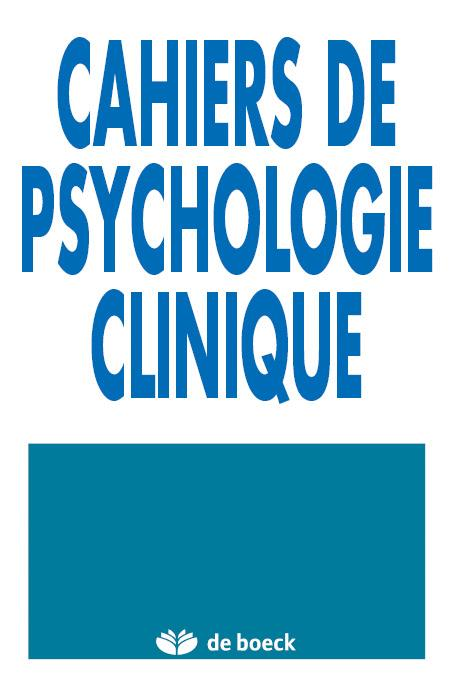 CAHIERS DE PSYCHOLOGIE CLINIQUE 2006/1 N.26