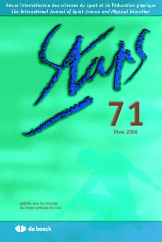 STAPS 2006/1 N.71 HIVER 2006