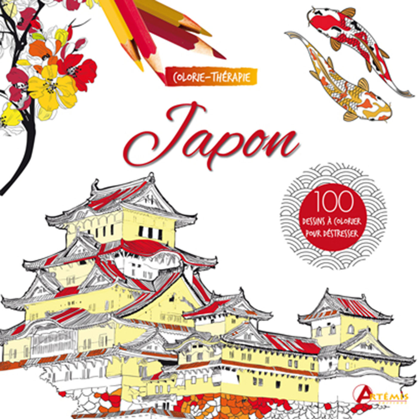 JAPON : 100 DESSINS A COLORIER POUR DESTRESSER