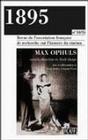 1895, N 34-35/OCT. 2001. MAX OPHULS