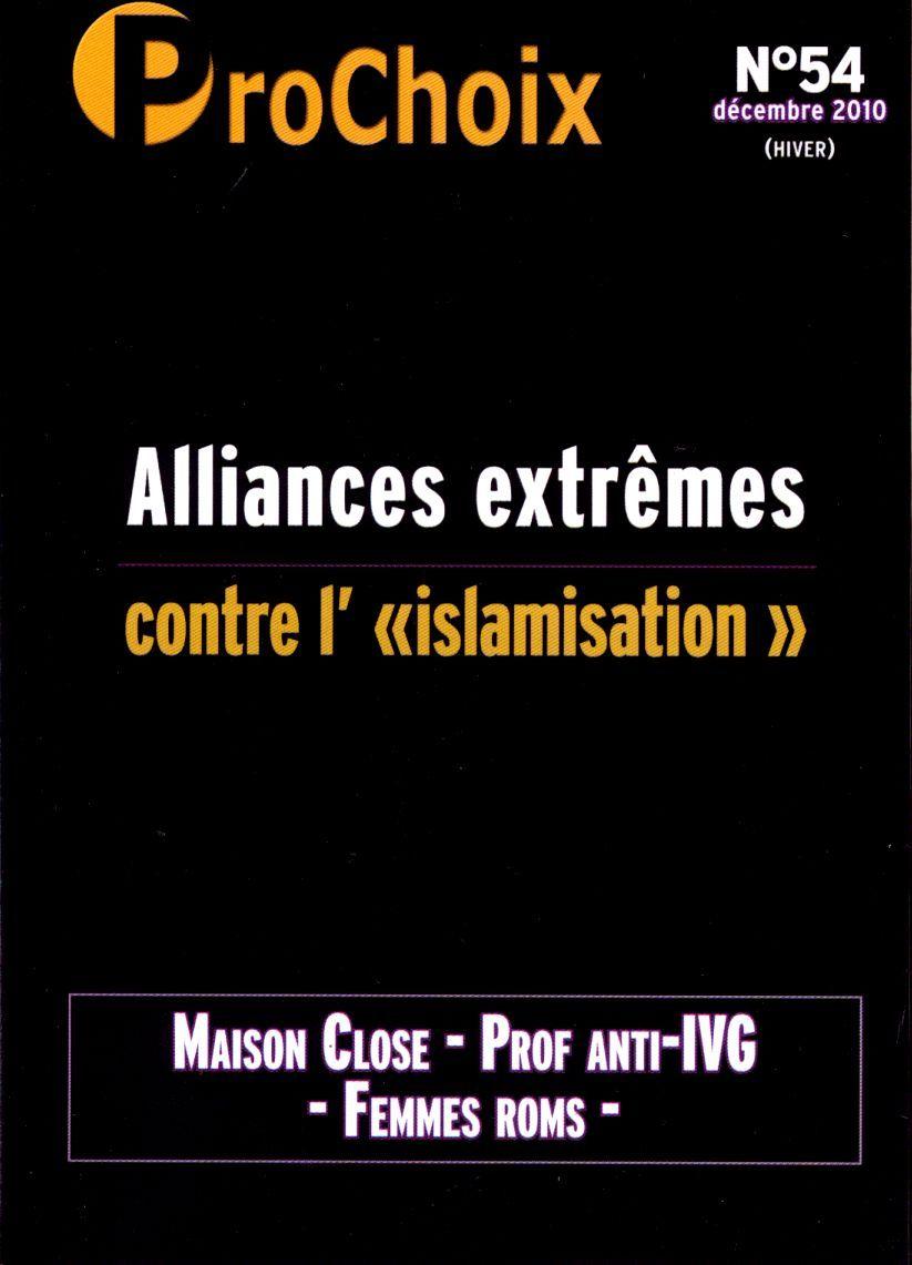 PROCHOIX N 54 - ALLIANCES EXTREMES CONTRE L'ISLAMISATION.