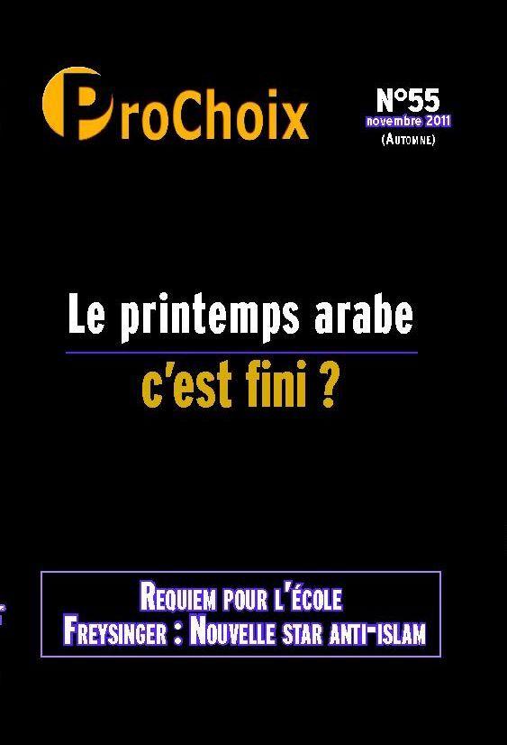 PROCHOIX N 55 - LE PRINTEMPS ARABE C'EST FINI ?