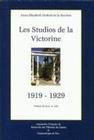 LES STUDIOS DE LA VICTORINE, 1919-1929