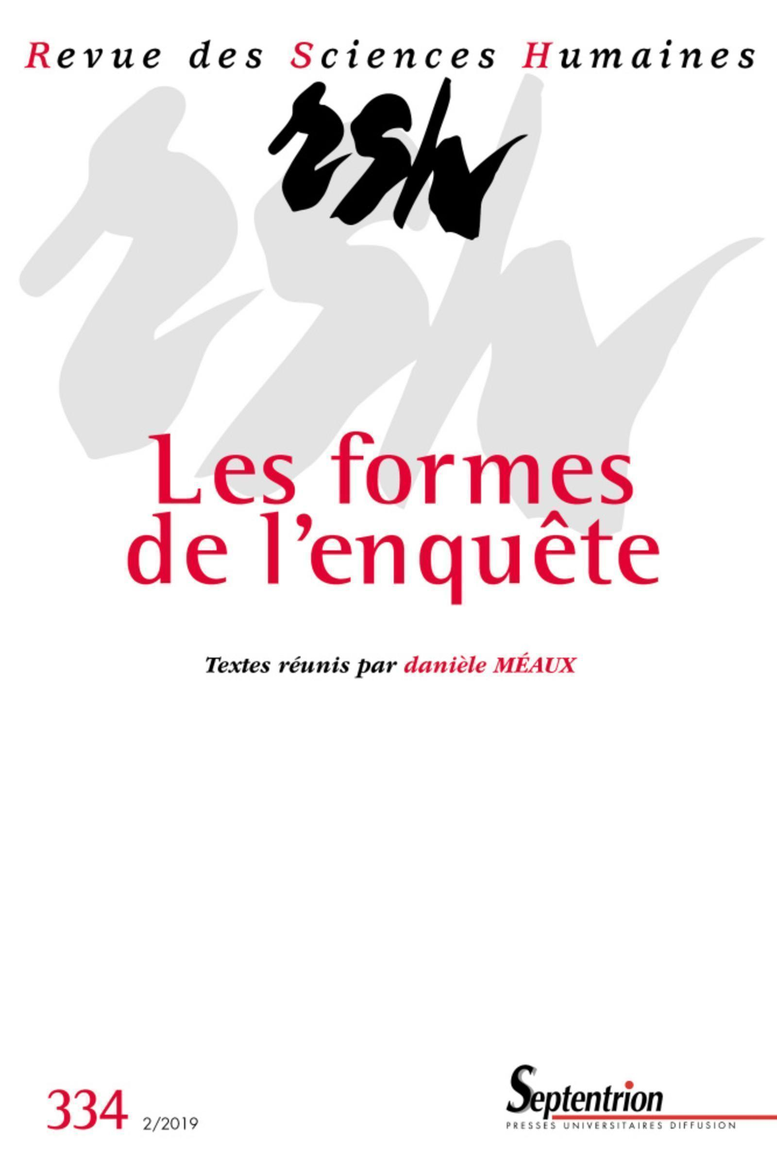 LES FORMES DE L ENQUETE N 334