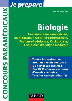 BIOLOGIE - CONCOURS PSYCHOMOTRICIEN, MANIPULATEUR RADIO, ERGOTHERAPEUTE