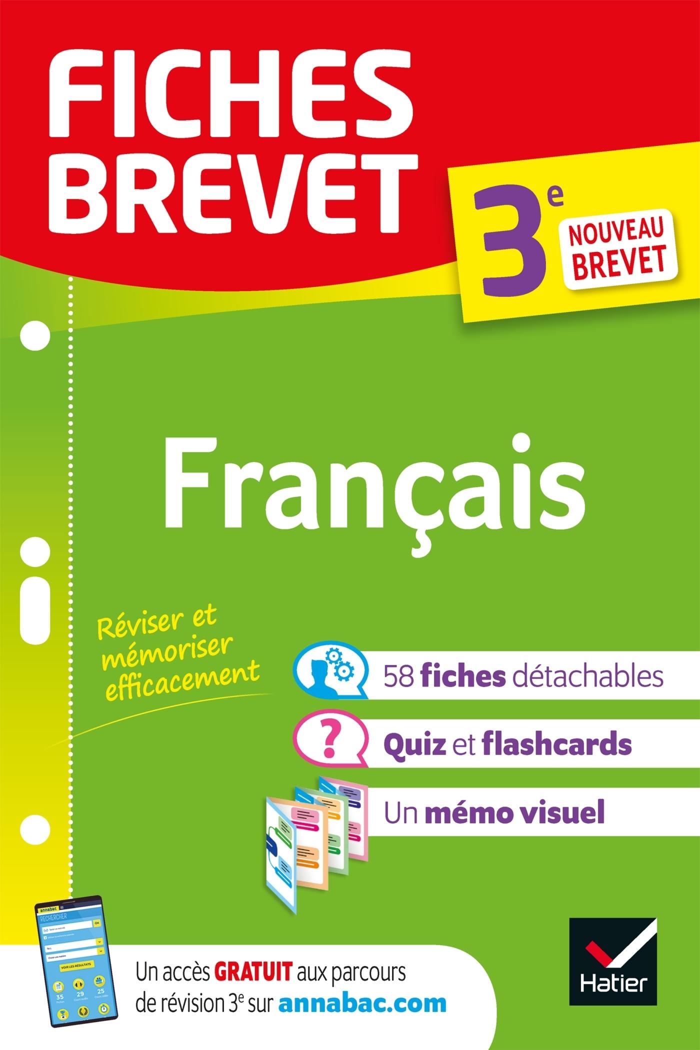 FICHES BREVET FRANCAIS 3E - FICHES DE REVISION POUR LE NOUVEAU BREVET