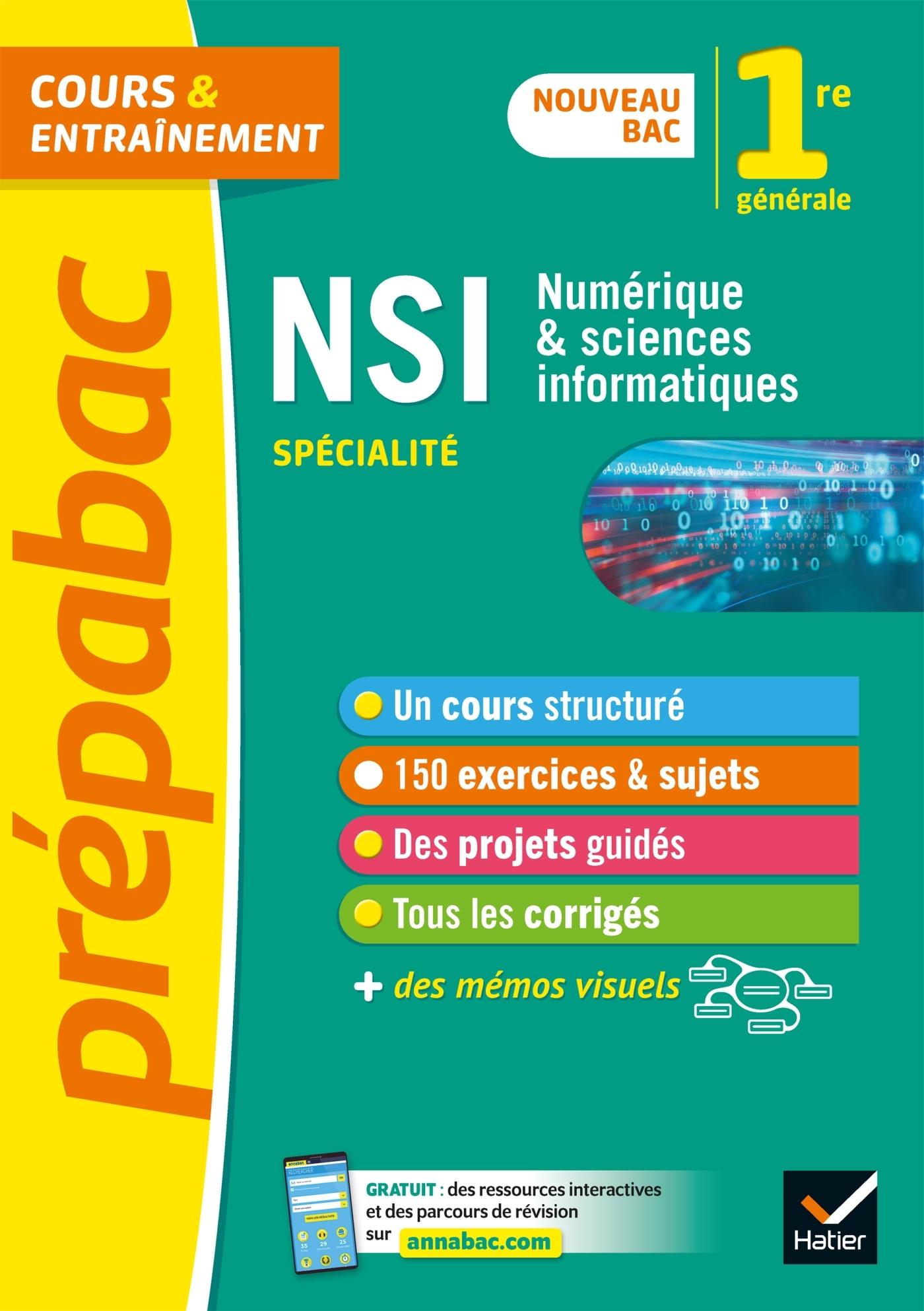 NUMERIQUE ET SCIENCES INFORMATIQUES 1RE (NSI) - PREPABAC - NOUVEAU PROGRAMME DE PREMIERE 2019-2020