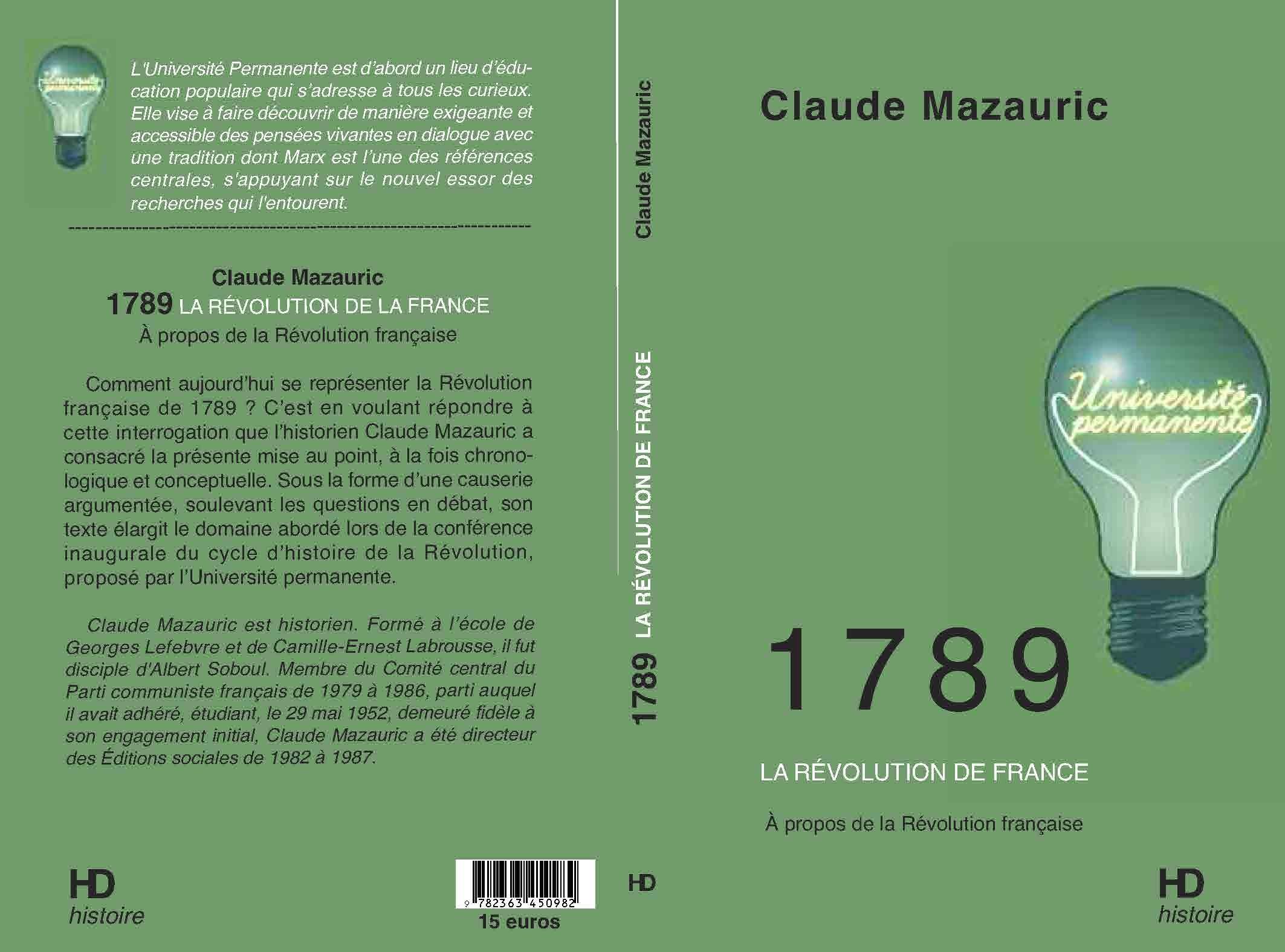 1789 LA REVOLUTION DE FRANCE - A PROPOS DE LA REVOLUTION FRANCAISE