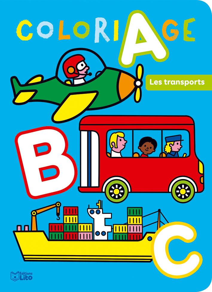 ABC A COLORIER DES TRANSPORTS