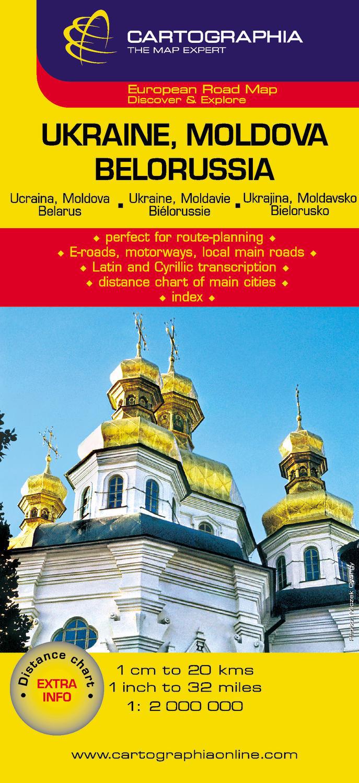 UKRAINE BIELORUSSIE (CARTE CARTOG)