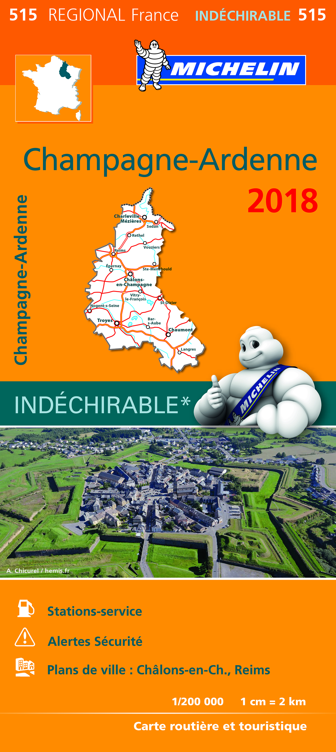 CARTE REGIONALE 515 CHAMPAGNE ARDENNE 2018