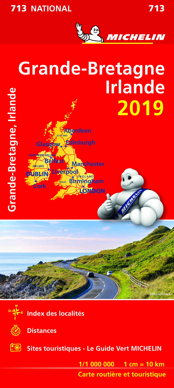 CARTE NATIONLA 713 GRANDE BRETAGNE, IRLANDE 2019