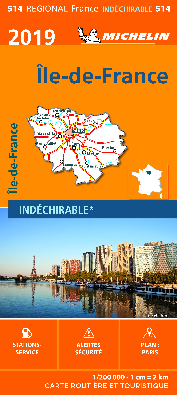 CARTE REGIONALE 514 ILE DE FRANCE 2019