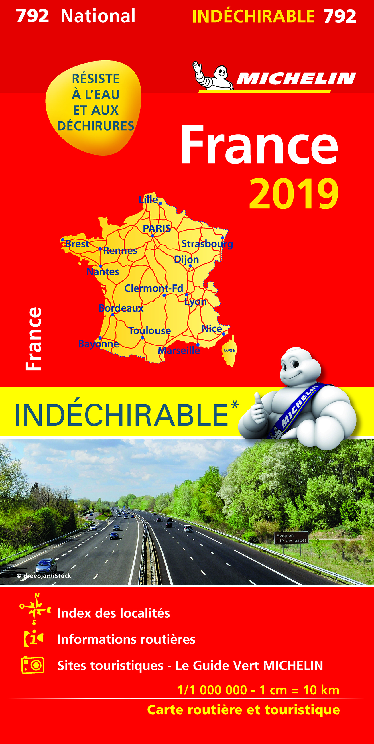 CARTE NATIONALE 792 FRANCE INDECHIRABLE 2019