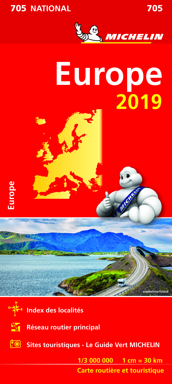 CARTE NATIONALE 705 EUROPE 2019