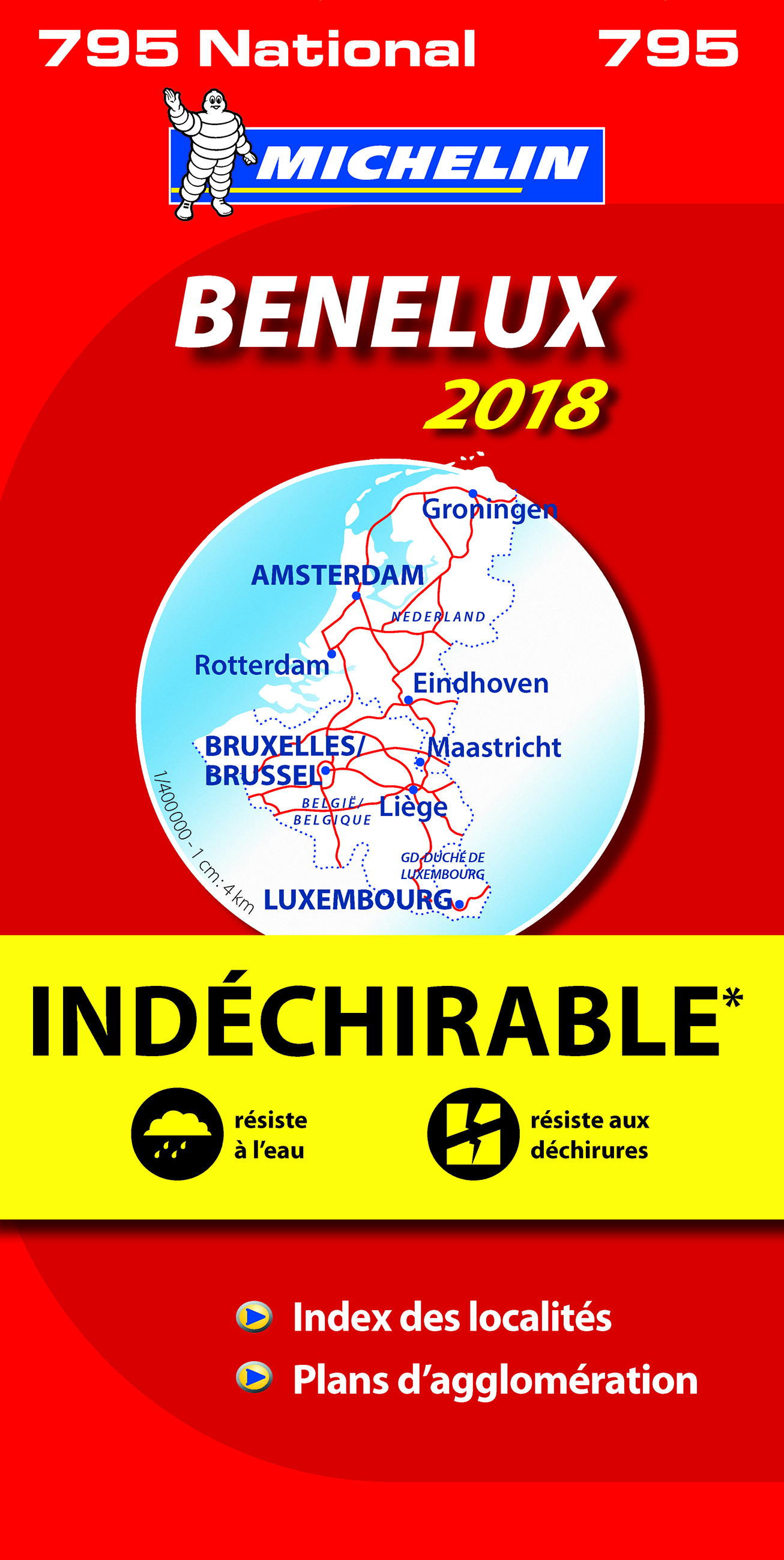 CARTE NATIONALE 795 BENELUX INDECHIRABLE 2018