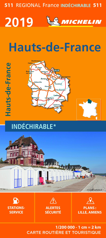 CARTE REGIONALE 511 HAUT DE FRANCE 2019