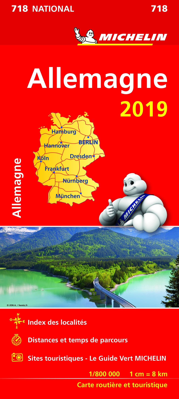 CARTE NATIONALE 718 ALLEMAGNE 2019
