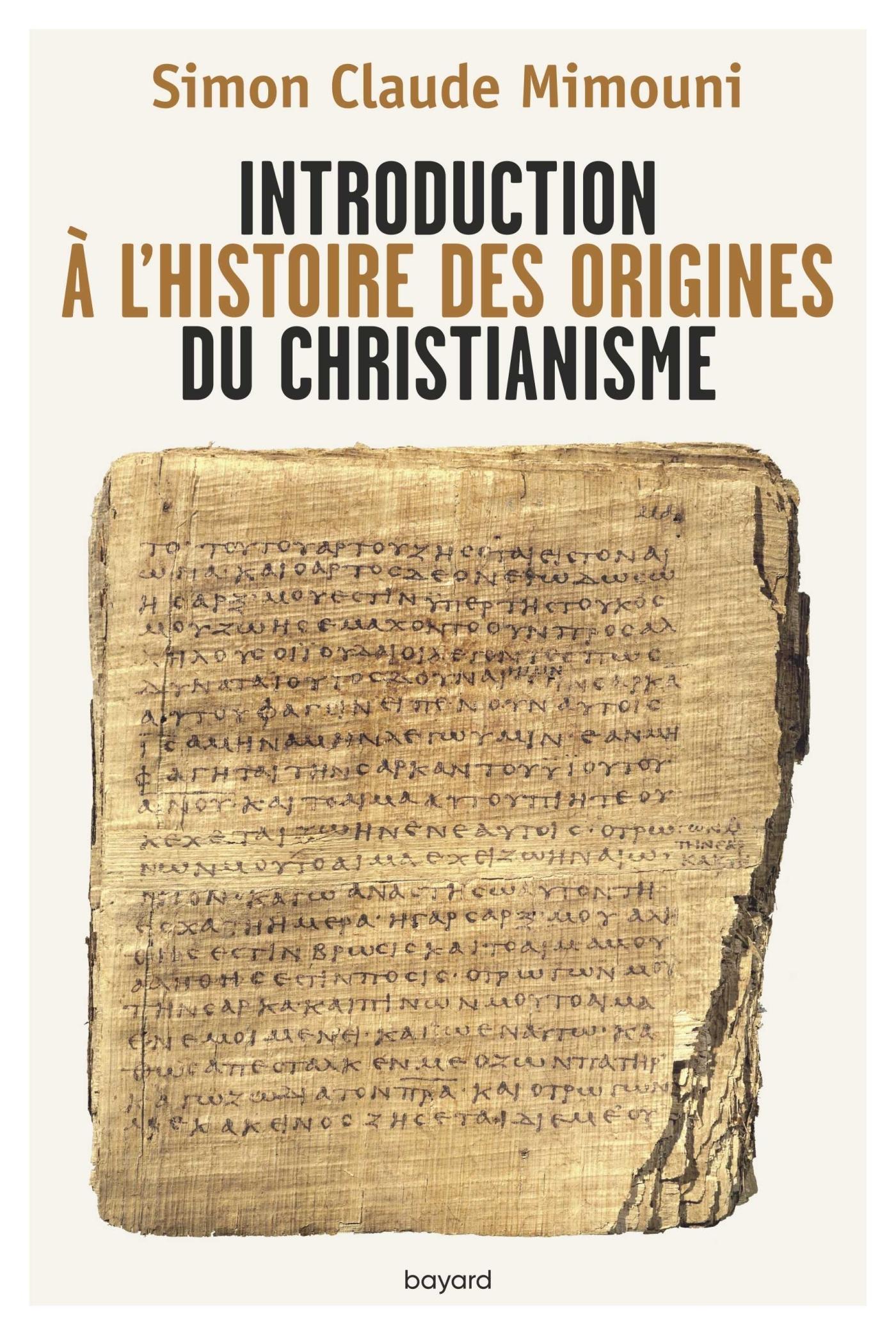 INTRODUCTION A L'HISTOIRE DES ORIGINES DU CHRISTIANISME