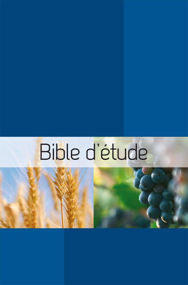 BSE BIBLE D ETUDE SEMEUR. COUVERTURE RIGIDE BLEUE ILLUSTREE