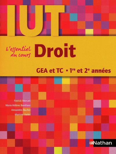 DROIT GEA ET TC 1E/2E ANNEES