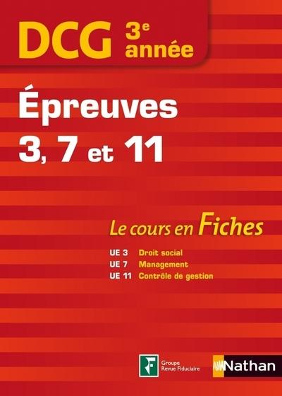 DCG 3E ANNEE EPREUVES 3-7-11