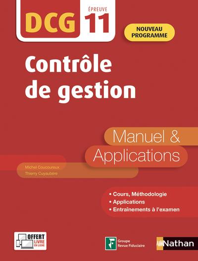 CONTROLE DE GESTION - DCG - EPREUVE 11 - MANUEL & APPLICATIONS - 2019