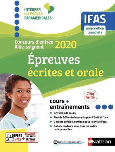 CONCOURS D'ENTREE AIDE-SOIGNANT 2020 - IFAS - EPREUVES ECRITES ET ORALE (IEPM) - 2019