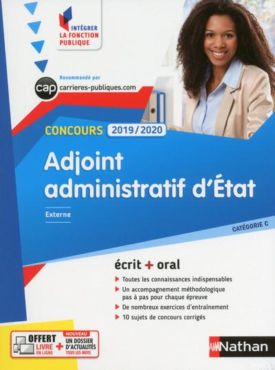 CONCOURS ADJOINT ADMINISTRATIF D'ETAT 2019-2020 - N 2 CATEGORIE C (IFP)