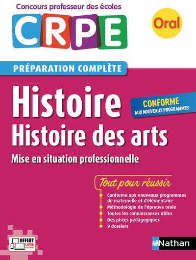 HISTOIRE - ORAL (CRPE) HISTOIRE DES ARTS PREPARATION COMPLETE PROFESSEUR DES ECOLES - 2017