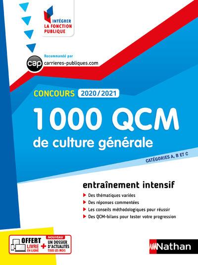 1 000 QCM CULTURE GENERALE - CONCOURS 2020-2021 - N28 - CATEGORIES ABC (IFP) - 2020