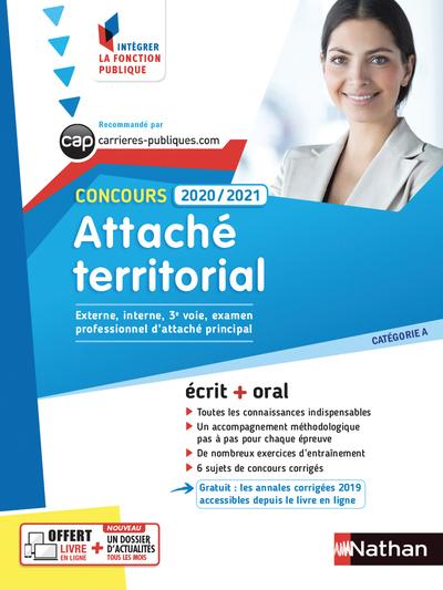 CONCOURS ATTACHE TERRITORIAL 2020/2021 - N40 - CATEGORIE A (INTEGRER LA FONCTION PUBLIQUE) - 2020