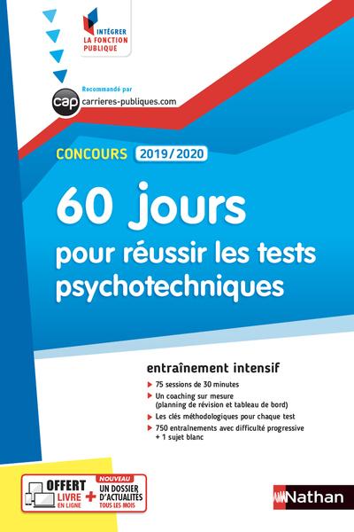 CONCOURS ADMINISTRATIFS 2019/2020 NUMERO 56 - 60 JOURS POUR REUSSIR LES TESTS PSYCHOTECHNIQUES (IFP)
