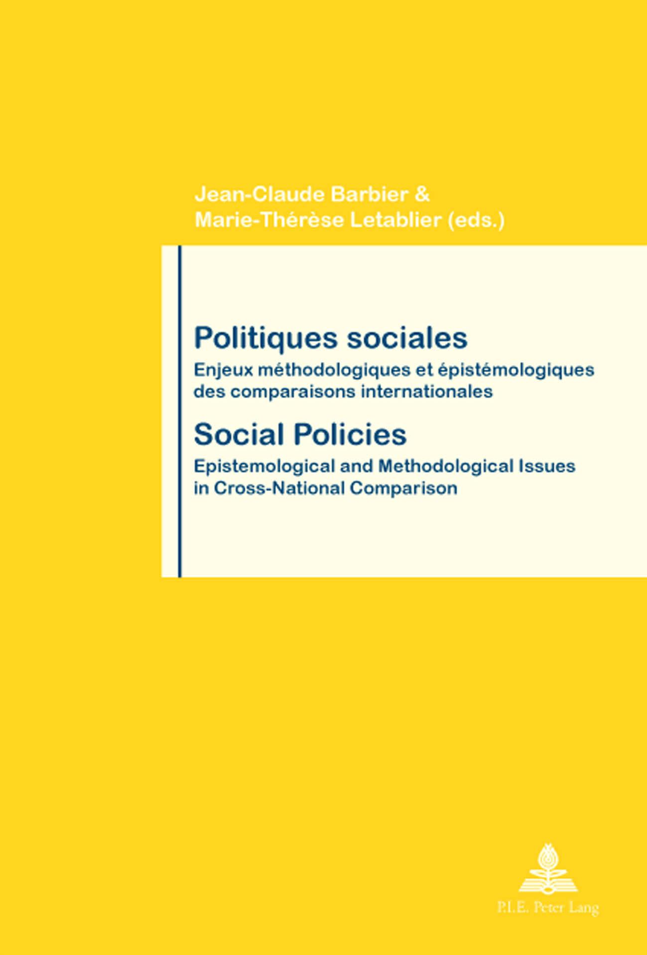 POLITIQUES SOCIALES/ SOCIAL POLICIES